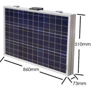 Solarkoffer mit Maßangaben