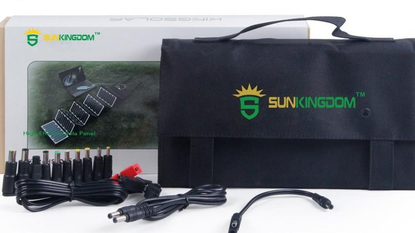 Kleiner solarkoffer im Komplettset, mit passenden Anschluss-Adaptern